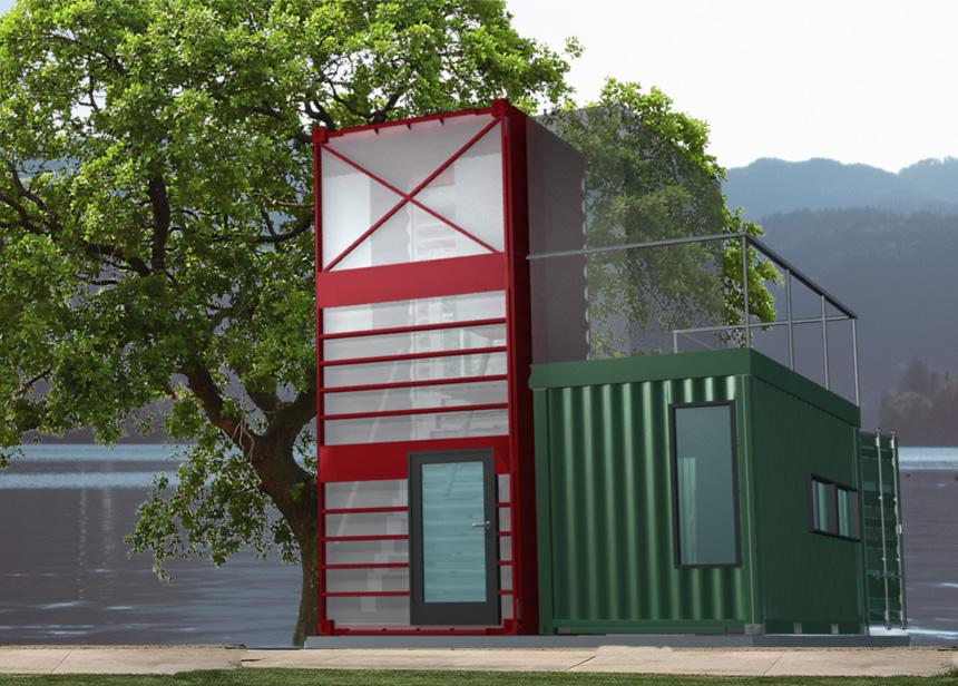 Studentský kontejnerový domek
