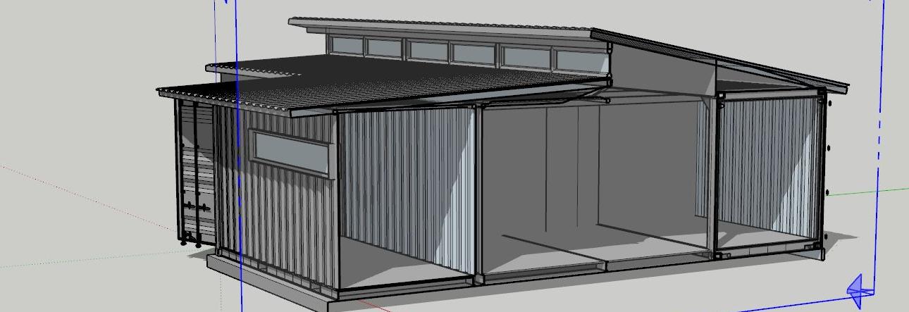 Dům z kontejnerů 4+1