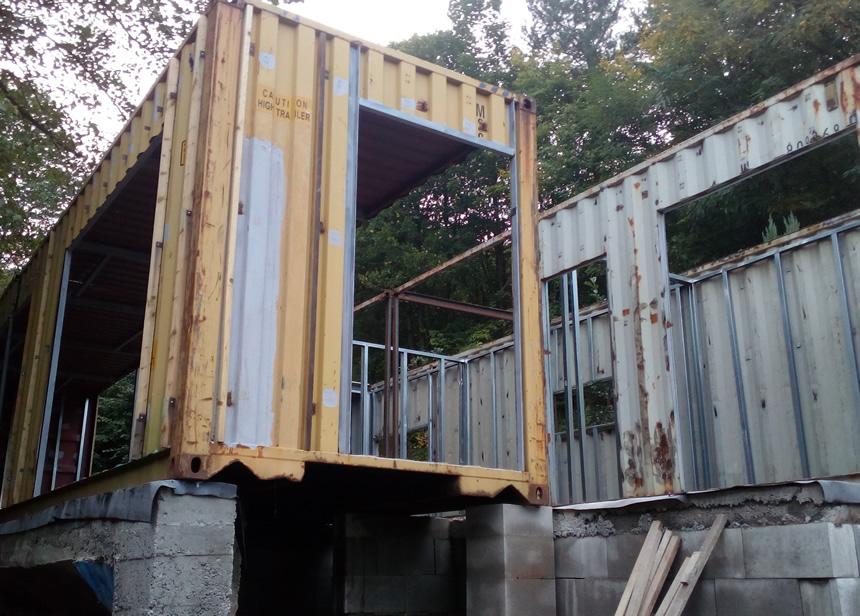 Kontejnerová chata v našem provedení